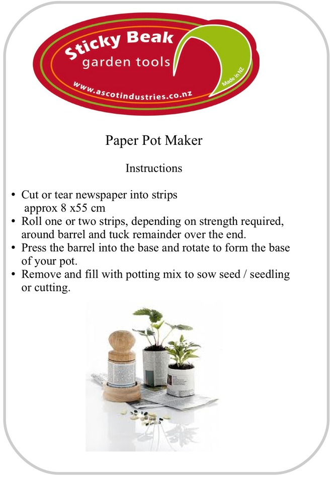Pot Maker Instructions